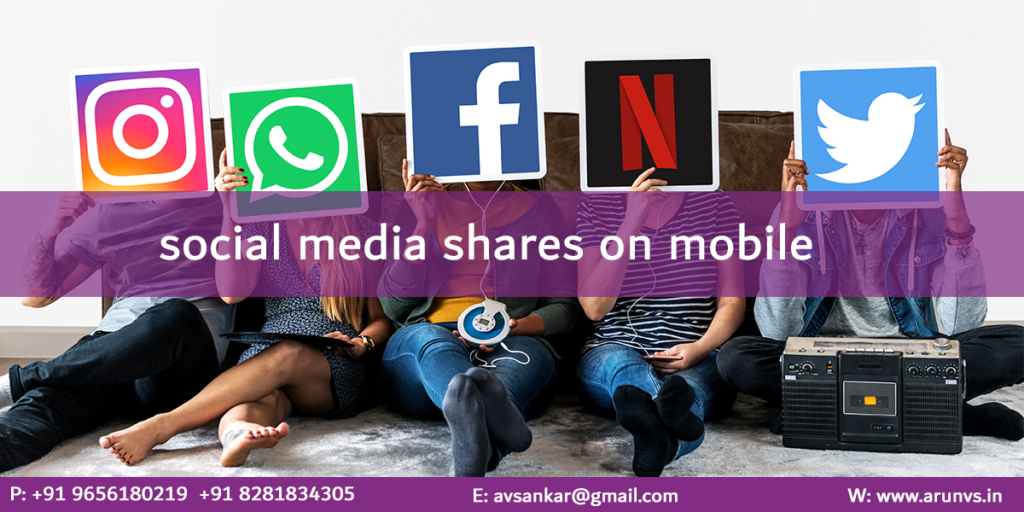 Social media shares on mobile